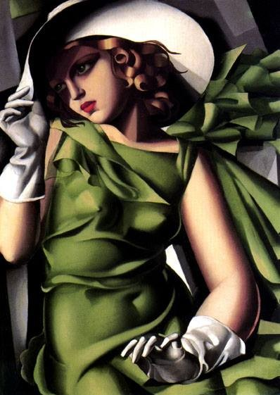 Young Lady with Gloves (Young Girl in Green), 1930 Tamara de Lempicka